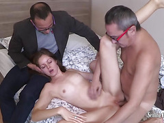 Babe Takes A Big Cock While BF Watches