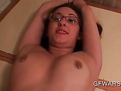 Tattooed hoe banged over the kitchen table