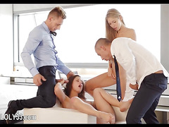 Unbelievably unbelievable babe group fucking action