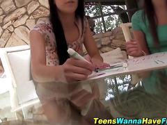 Newb teen spunked outside