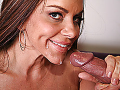 Horny MILF Babe Devours A Huge Cock!
