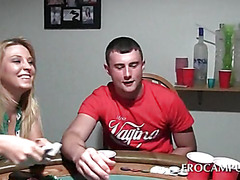 College poker sex game with boob flashing