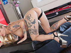Busty and blonde Kleio Valentien gets destroyed by Lexington Steele