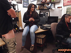 Two girls try to steal at the pawnshop and get pounded