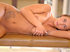All natural beauty Whitney Westgate sucks and rides big cock
