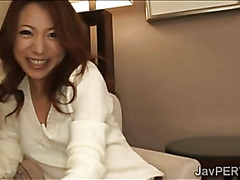 Naughty J idol bends on her knees to blow 2 hefty dicks