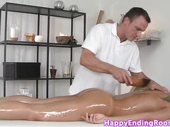 WAM erotic massage with a busty cumshot babe