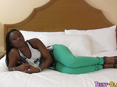 Ebony teen screwed hard