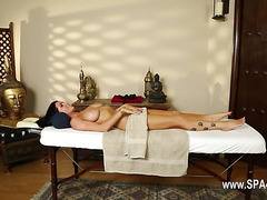 attractive massage actions from voyeur camera