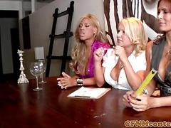 CFNM cougars judging several hard dicks