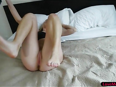 Lovely stepsis Zoe Parker gets her pussy screwed on the bed