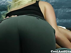 Hospital blonde babe spoiling lucky patient