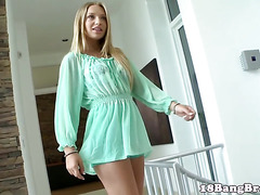 Smalltitted tonguepierced teen licked and doggystyle banged