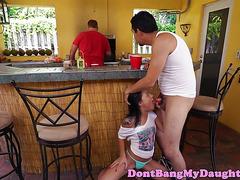Dicksucking amateur teen loves dick in ass