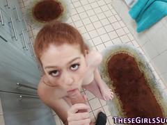 Redheaded teen pov sucks