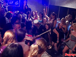 Classy amateurs at euro orgy dancing together