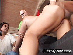 Cheating wife does anal plus blowjob