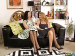 Stockinged brit lesbians