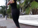 Babe ass fucked in public