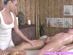 Erotic masseuse jerking another happy client