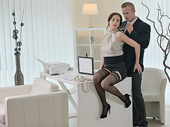 Horny girlfriend Antonia wants to fuck the brains out of her bf
