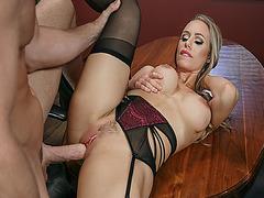 Johnny Sins fucks Nicole Aniston so hard in her vagina
