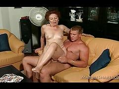 Hairy Granny Fucked By Horny Stud