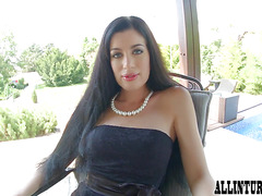 Hot girl drips cum out of her creampie filled pussy