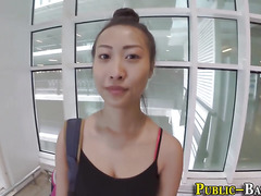 Asian ho fucks in carpark