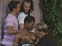 Two friends two maids double penetration