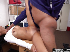 Beautiful Latina babe gets fucked by a stiff dick