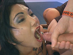 Cum-hungry Slut Gets Fucked In Ass And Sprayed With Warm Jizz