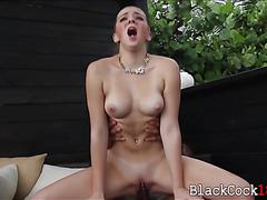 Teen Tiffany Watson interracial session by big black boner