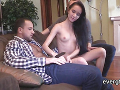 Broke bf lets nasty buddy to fuck his exgf for money