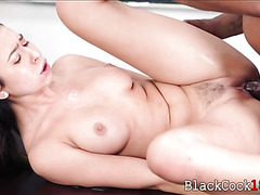 Melissa Moore in uniform pounded by throbbing black dick