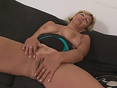 Blonde Granny Masturbates Before Getting Pussy Invaded By Black Dick