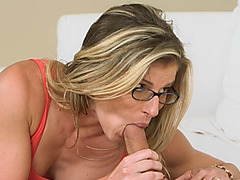 Step Mom Cory Chase Sharing Long Cock step Daughter Threesome