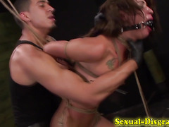 Tied slave bdsm gagged