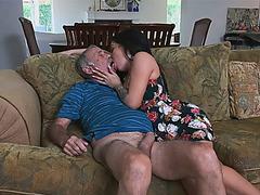 Horny hottie babe Aria Rose love massive dick to fuck