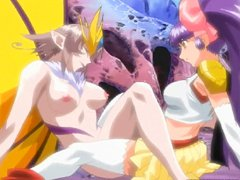 Hentai girl gets hot riding by butterfly monster anime