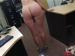 Horny housewife fucked by pawn keeper at the pawnshop