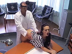 Doctor cures back pain with his cock