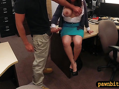 Busty wife pawns her pussy and pounded to bail out her hubby
