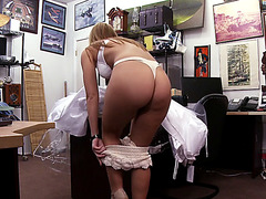 A vengeful bride gets rid off her wedding dress and gives a fuck
