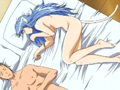 Furry anime poked from behind