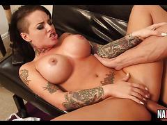 Busty Tattooed Babe Fucked Hard Christy Mack