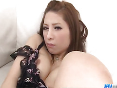 Tsubasa Aihara enjoys cum on face afetr harsh show