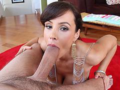 Horny Lisa Ann getting a monster cock