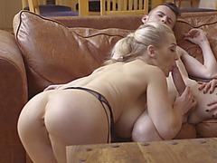 Rebecca Moore and Ella Hughes enjoying hardcore threesome sex