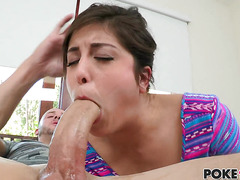 Teen Natalie Monroe is hungry for big cocks